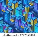 a smart 3d illustration... | Shutterstock .eps vector #1727358340