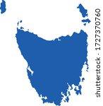 vector illustration of tasmania ...   Shutterstock .eps vector #1727370760