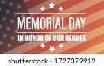 memorial day usa. celebrated in ... | Shutterstock .eps vector #1727379919