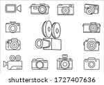 thin line icons for camera on...