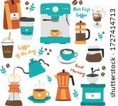 Hand Drawn Set Of Coffee...