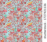 a pinkish seamless pattern with ...   Shutterstock . vector #1727421136