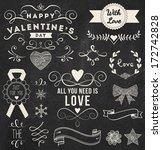 chalk valentine's day design...   Shutterstock .eps vector #172742828