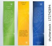 vertical corporate banners  ... | Shutterstock .eps vector #172742894