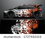 rally car decal graphic wrap... | Shutterstock .eps vector #1727432323