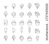 ice cream vector icons set of... | Shutterstock .eps vector #1727435020