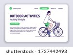 adorable female bicyclist web...