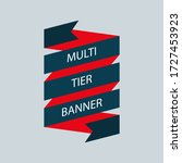 retro ribbon banner vector... | Shutterstock .eps vector #1727453923