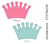 Retro Applique Of Fabric Crown...