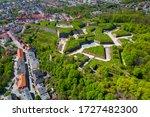 Aerial View Of Historic Klodzko ...
