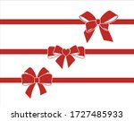 set of decorative  red bows... | Shutterstock .eps vector #1727485933