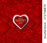 valentines day background with... | Shutterstock .eps vector #172748870
