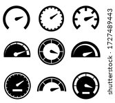 speedometer set icon  logo...   Shutterstock .eps vector #1727489443