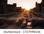 Streets In Pompeii  Naples ...
