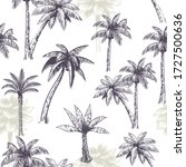 palm tree seamless pattern.... | Shutterstock .eps vector #1727500636