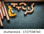 Plumbing Concept Copper Pipes...