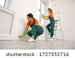 Professional Young Janitors In...