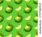 lime fruit seamless pattern....   Shutterstock .eps vector #1727560519