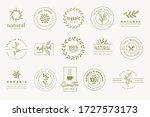 set of signs for organic and... | Shutterstock .eps vector #1727573173