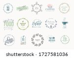 set of signs for food and drink.... | Shutterstock .eps vector #1727581036