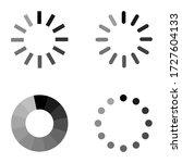 loading set icon on white... | Shutterstock .eps vector #1727604133