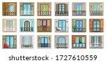 balcony vector cartoon set icon....   Shutterstock .eps vector #1727610559