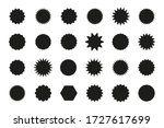 set of star burst stickers.... | Shutterstock .eps vector #1727617699