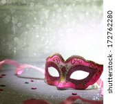 Pink Carnival Mask With...