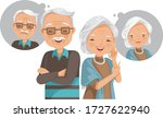 elderly mental health concept....   Shutterstock .eps vector #1727622940