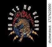 lightning eyes tiger and... | Shutterstock .eps vector #1727623000