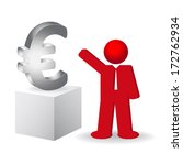 business man showing the euro...   Shutterstock .eps vector #172762934