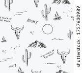 desert seamless pattern with... | Shutterstock .eps vector #1727630989