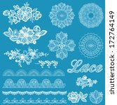set of lace  ribbons  flowers   ... | Shutterstock .eps vector #172764149