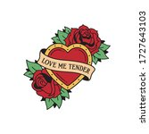 old school tattoo emblem label... | Shutterstock .eps vector #1727643103