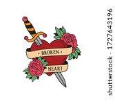 old school tattoo emblem label... | Shutterstock .eps vector #1727643196