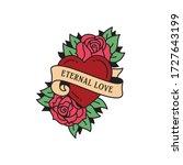 old school tattoo emblem label... | Shutterstock .eps vector #1727643199