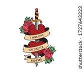 Old School Tattoo Emblem Label...