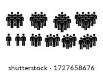 group of people icon set. team  ... | Shutterstock .eps vector #1727658676