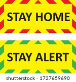 stay home and stay alert... | Shutterstock .eps vector #1727659690
