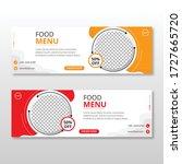 fast food web template banner... | Shutterstock .eps vector #1727665720