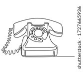 Old Telephone One Line Drawing...