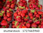 Selling Strawberries In Trays...