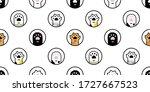 cat paw seamless pattern dog... | Shutterstock .eps vector #1727667523