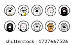 cat paw vector dog icon... | Shutterstock .eps vector #1727667526