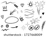 hand drawn set elements  for... | Shutterstock .eps vector #1727668009