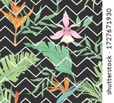 seamless pattern with tropical... | Shutterstock .eps vector #1727671930