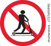 scooter ban sign  symbol ... | Shutterstock .eps vector #1727695990