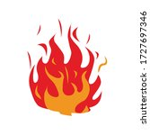Red Flame  Fire Vector...