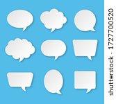 white blank speech bubble set... | Shutterstock .eps vector #1727700520