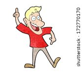 cartoon man with great idea | Shutterstock .eps vector #172770170